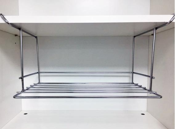 Estante Colgante Organizador De Alacena Cromado Alt:19,5cm