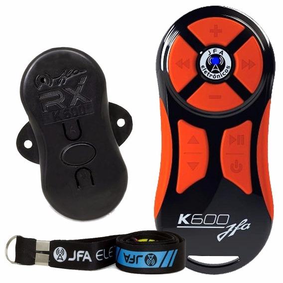 Kit 2 Controle Remot Longa Distancia Jfa K600 Preto Laranja