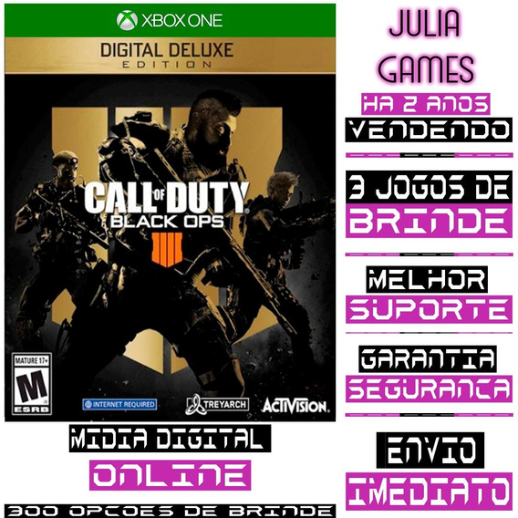 Call Of Duty Black Ops 4 Deluxe Xbox One Online + Brinde