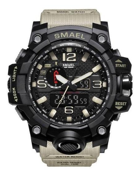 Reloj Militar Smael 1545 S Shock Táctico 50m Sumergible