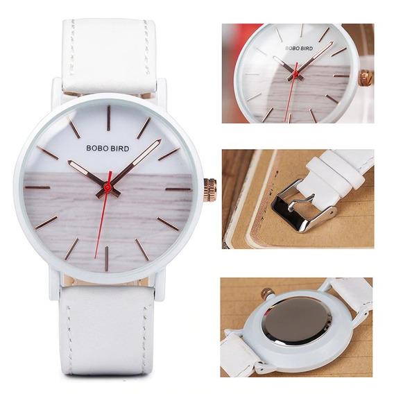 Relógio Unissex Aço Inox Q162 Analógico Bobo Bird