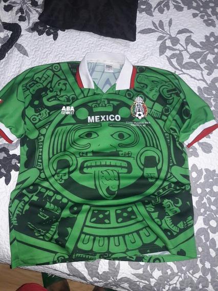 Camiseta Mexico Aba Sport Mundial Francia 1998 Unica Epoca