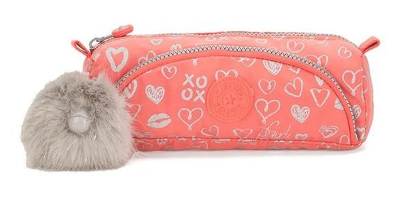 Estojo Kipling Cute - Hearty Pink Met