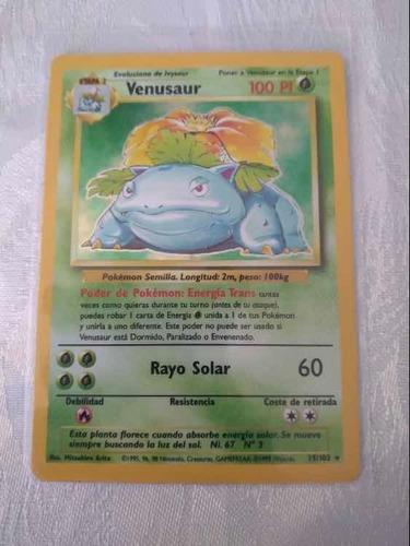 Carta Pokemon Venusaur Base Set Near Mint 1999