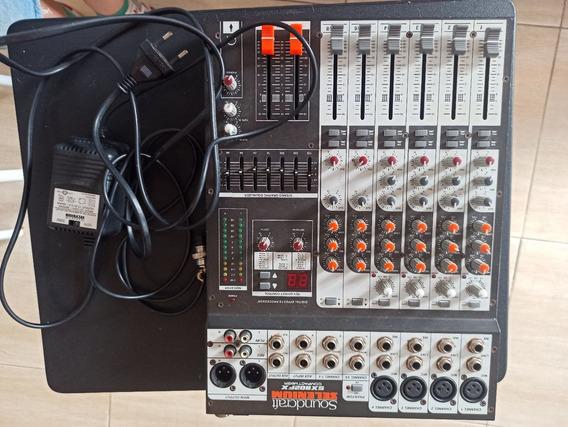 Mesa De Som Soundcraft Selenium/ 8 Canais Com Efeito!