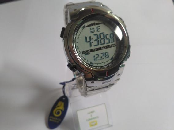 Relógio Atlantis Cromado Original G7452/ Frete Gratis