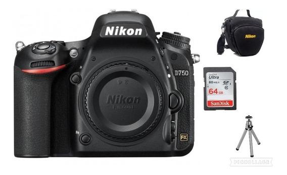 Câmera Nikon D750 (somente Corpo)+bolsa+64gb+tripé