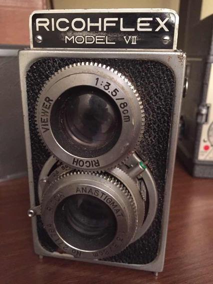 Câmera Fotográfica Antiga Ricohflex Model Vii