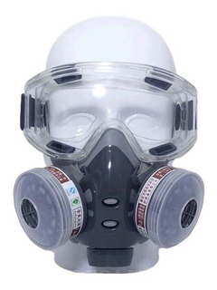 Mascara Anti-gas Anti-polvo Dos Filtro Carbón + Lentes