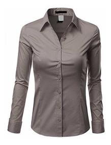Camisa Social Feminina Slim Estilo Paris Frete Grátis P/ 2un