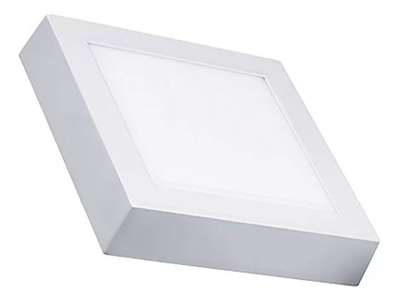 Painel Quadrado De Led 12w Bivolt Sobrepor 6000k Luz Branca