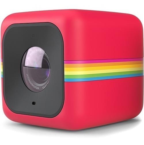 Câmera De Ação Polaroid Cube Full Hd Vermelha | Temos Loja