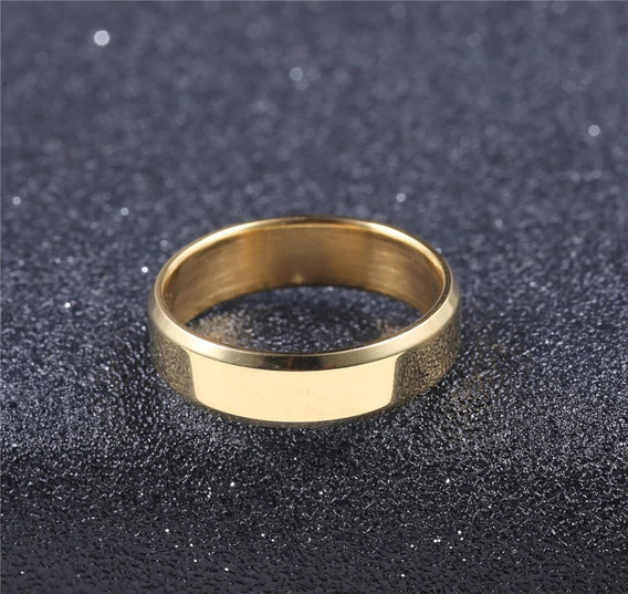 Par Aliança Chanfrada Polida 6mm Casamento Noivado Anatômica