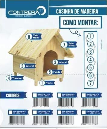 Casinha De Madeira N°3 Para Cachorro Medio/grande Porte-403