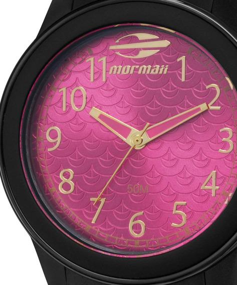 Relógio Mormaii Feminino Maui Preto E Rosa Mo2035cq/8q