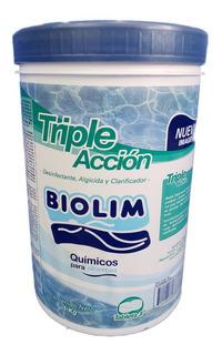 Cloro Triple Acción Tabletas De 3 Pulgadas Marca Biolim 1kg