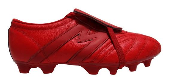 Zapatos Futbol Tachos Manriquez Rojo Mid Sx