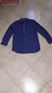 Camisa Nautica Azul De Cuadros