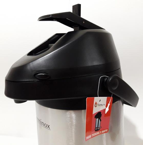 Garrafas Térmicas 2,5 Litros Inox Sistema Alavanca - Top