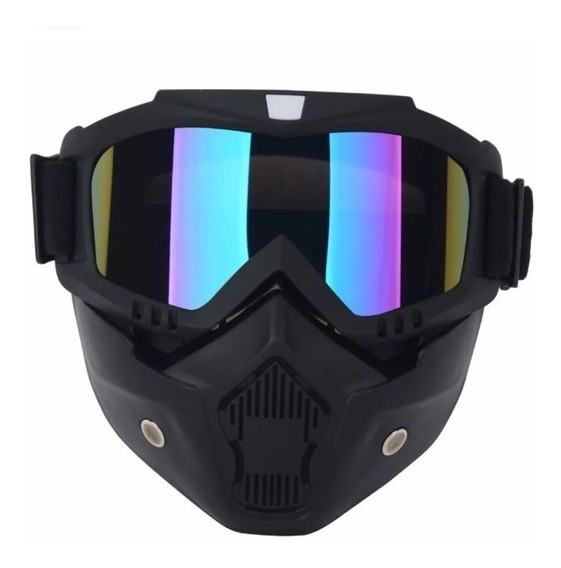 Antiparra Moto Con Mascara Predator Para Casco Solomototeam