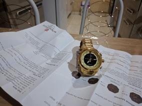 Relógio Naviforce Dourado Importado Militar Frete Grátis!