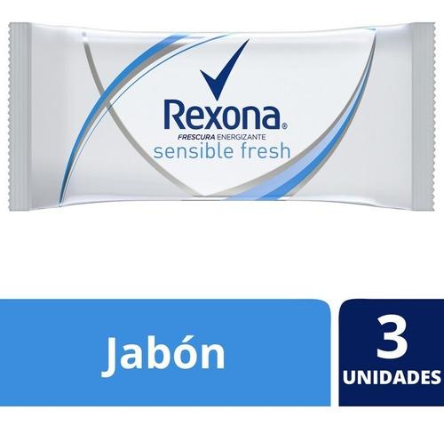 Rexona Jabón En Barra Sensible Fresh 3x125g
