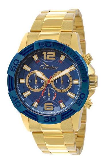 Relogio Masculino Condor Cronografo Dourado Covd54aa4a