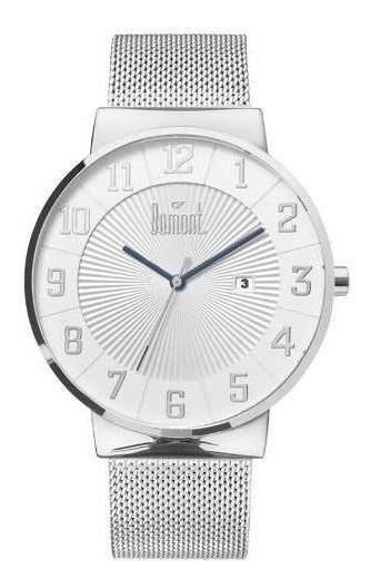 Relógio Dumont Unissex Prata Du2115aag/3t