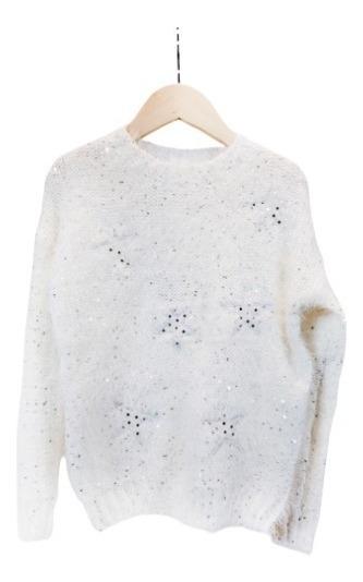 Sweater Nena Nucleo Pelo De Mono Lentejuelas Regalosdemama