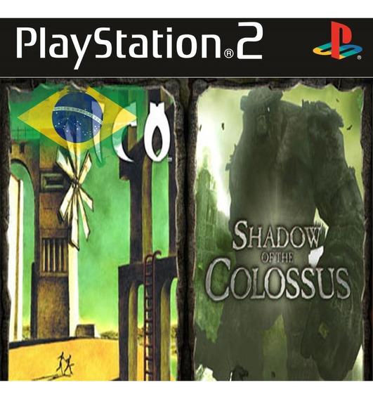 Lote Shadown Of Colossos E Ico Dublados Ps2 Frete Fixo