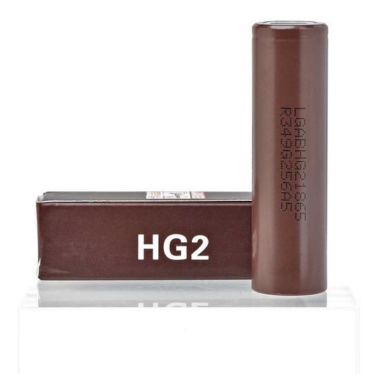 2x Bateria Lg Hg2 3000mah 20a 3,7v Mod 18650 + Brindes