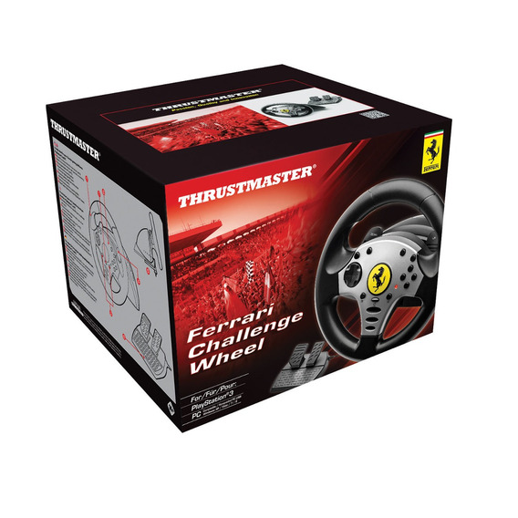 Volante Carreras Ferrari Rojo Pc/playstation 3 Thrustmaster