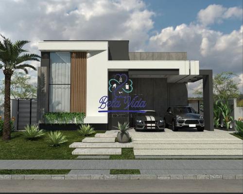 Imagem 1 de 28 de Indaiatuba- Sp, Casa Térrea Residencial Condomínio Maison Du Parc. Bela Vida Imobiliária - Ca01269 - 69505437