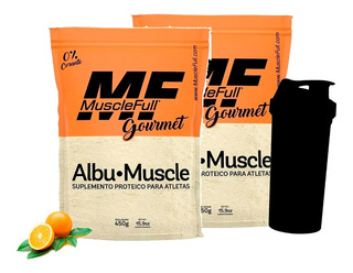 Combo - 2x Albumina Pura - 450g Cada + Coq - Muscle Full