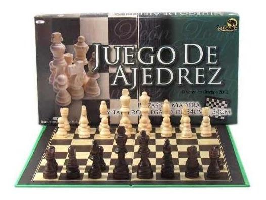 Juego De Ajedrez Piezas De Madera Mediano 8742 Bisonte