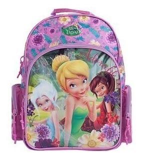 Mochila De Costas Disney Fadas G Escolar Dermiwil - 60196