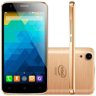 Combo 02 Smartphones Qbex W509 Gold Intel 5.0 16gb 8mp Novo