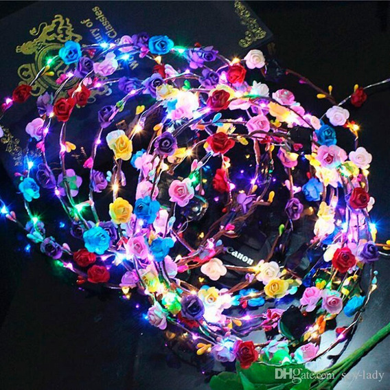 Vincha Luminosa Led Hippie Tiara Flores - Super Sale!!
