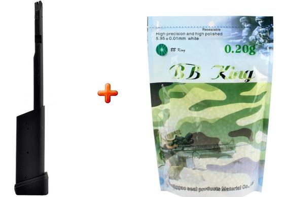 Magazine Airsoft Estendido Pistola Glock + 5000 Bbs Promoção