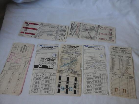 Lote 7 Volantes De Loteria Esportiva Anos 70