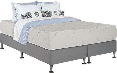 Imagen 1 de 10 de Sommier Queen Resorte Pocket Espuma Premium Divino Design