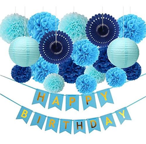 Decoraciones De Fiesta De Cumpleaños Color Azul