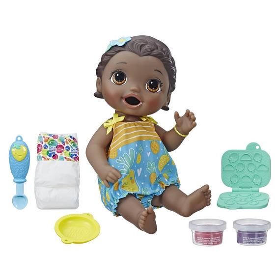 Boneca Baby Alive - Lanchinhos Divertidos - Negra - Hasbro