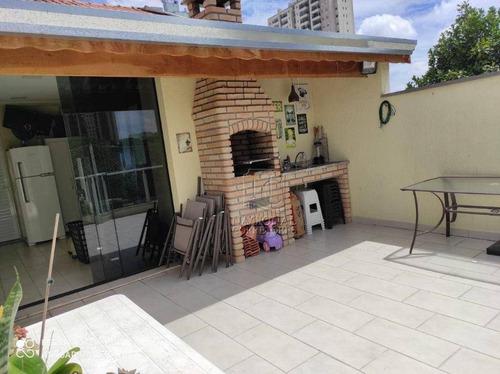 Cobertura Com 2 Dormitórios À Venda, 80 M² Por R$ 320.000,00 - Vila Curuçá - Santo André/sp - Co5524