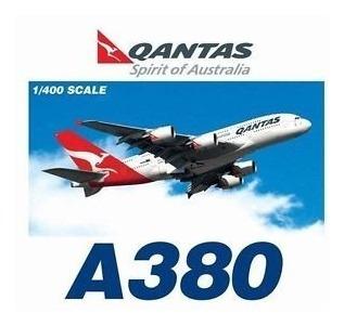 Maquete/miniatura Avião Airbus A380 Qantas 1:400