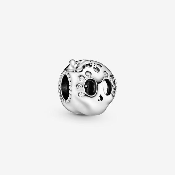 Pandora Charm Calavera Con Brillos