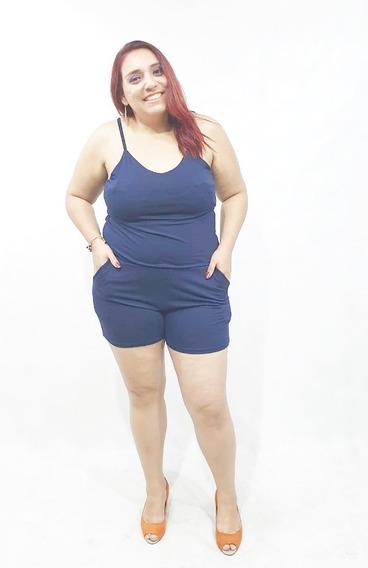 Macaquinho Feminino Com Lycra Plus Size