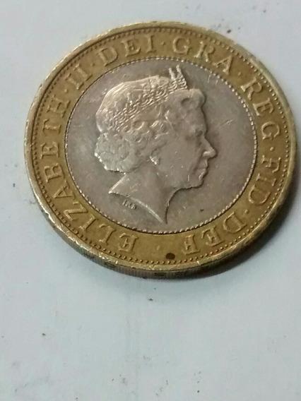 Moneda 2 Libras Esterlinas Bimetalica 2006 Envío $40 Pesos