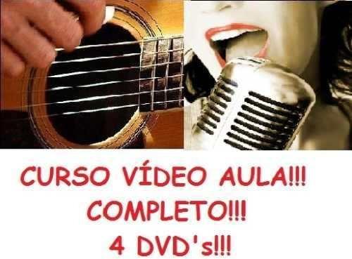 Curso De Violão + Canto! Aulas Em 4 Dvds Hjk