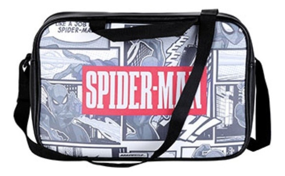 Bolsa Transversal Miniso Marvel Spider-man - Cor Preta
